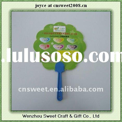 summer promotional advertising full color printing hand fan