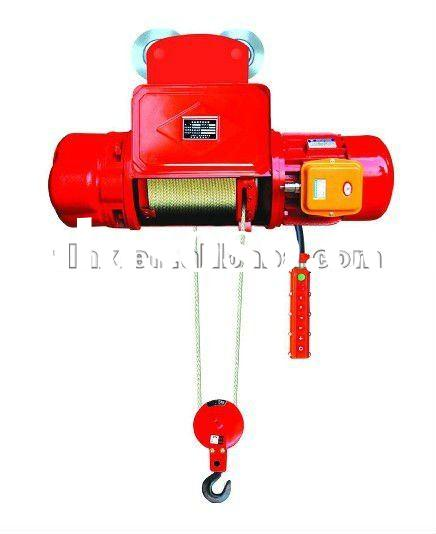 0.5t Electric wire rope hoist, small lifting,construction winch