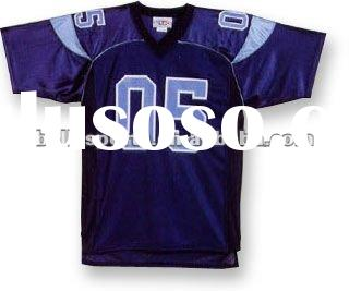 100% Polyester Tricot Mesh Customized Fashion American Football Jersey
