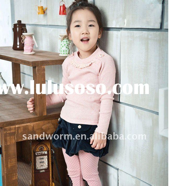 100% cotton meterial long sleeve shirt for girls