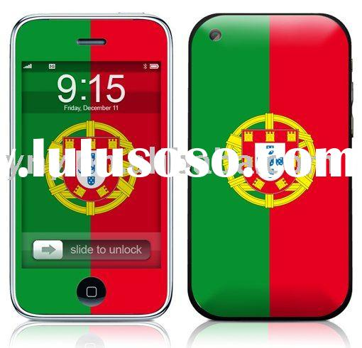 108.removable phone skin,phone sticker for iphone 3g,3gs,Avery cast vinyl,flag