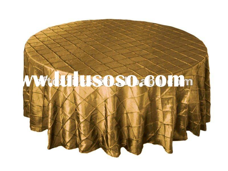 """120"""" Pintuck Fancy Round Tablecloths Linens for Parties Wedding Catering"""
