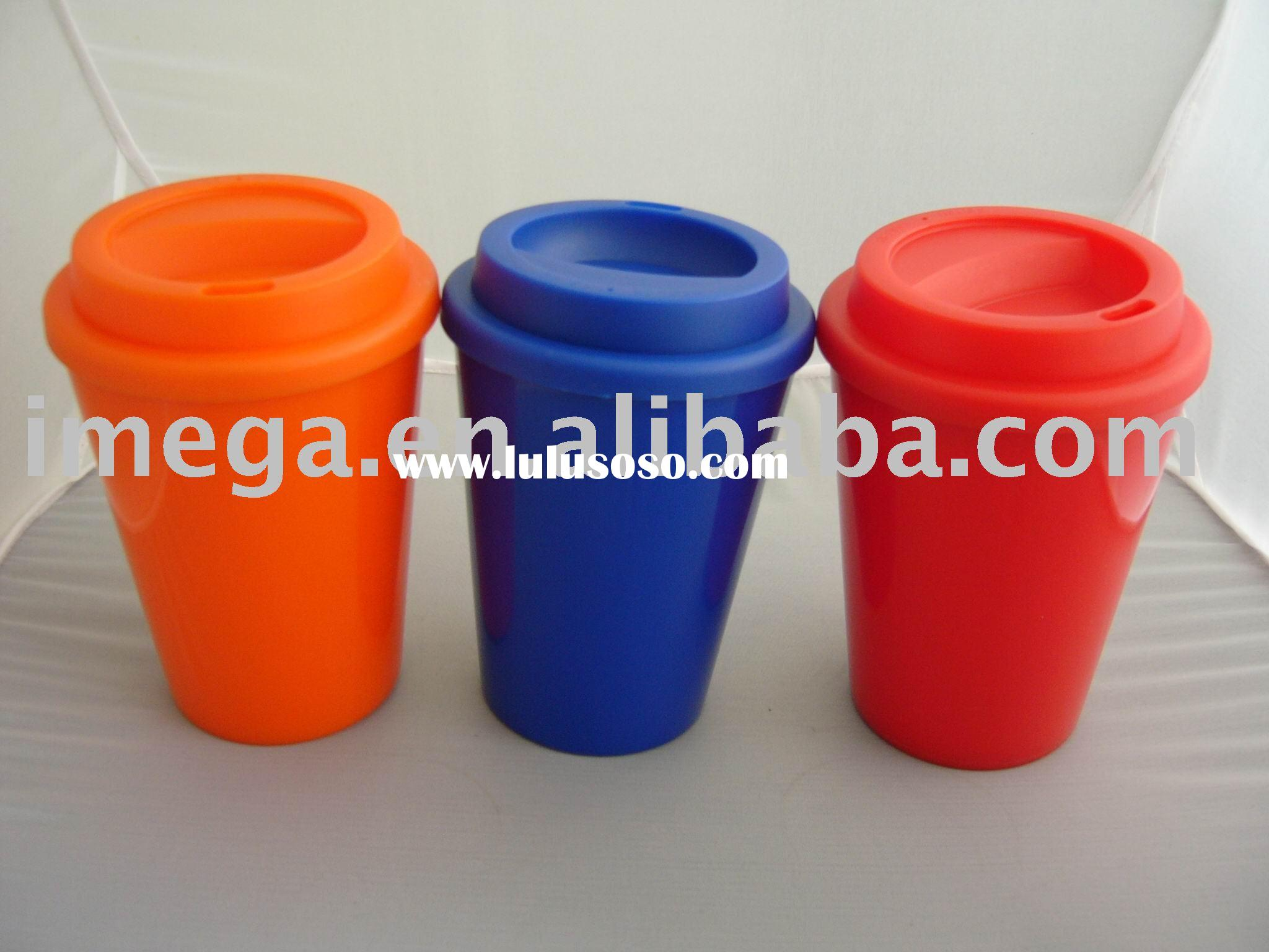 12 OZ Double Wall Plastic Coffee Mug