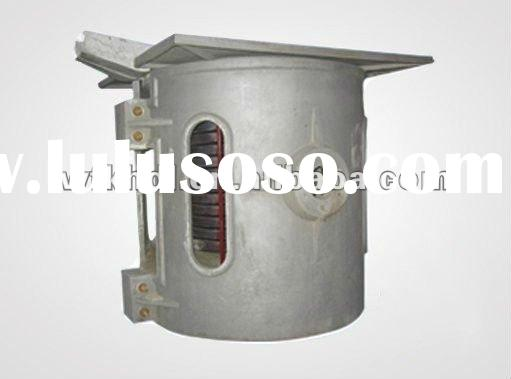 1ton Aluminum melting furnace for melt scrap with KGPS power supply