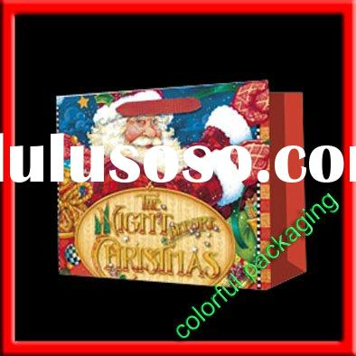 2010 hot sale christmas gift paper bag(CGB-01)