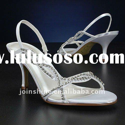 2011 Elegant White Bridal shoes, High heel Bridal shoes