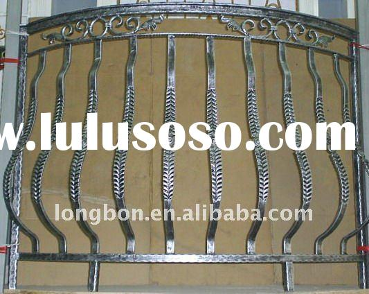 2011 Top-selling newest hand forged modern wrought iron balcony fence railing for home