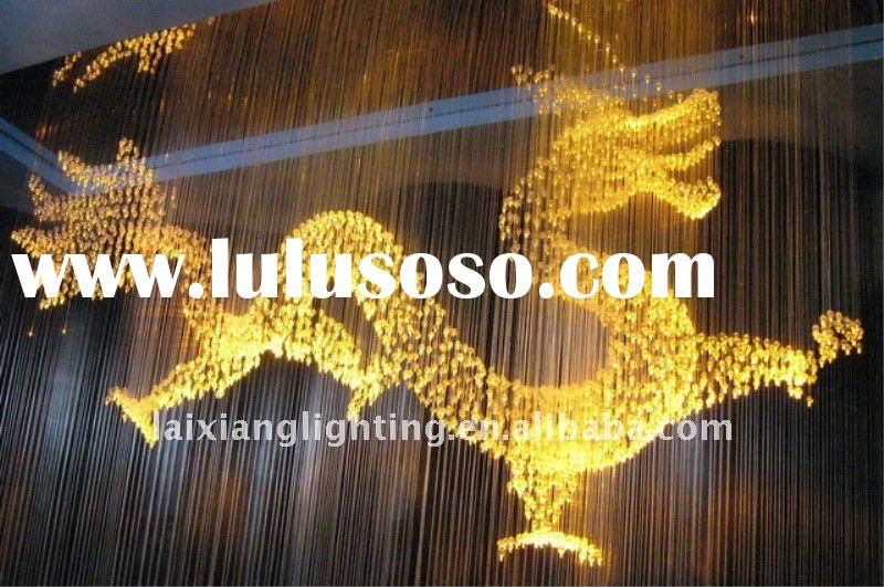 2012 hot selling crystal chandelier optical Fiber lighting