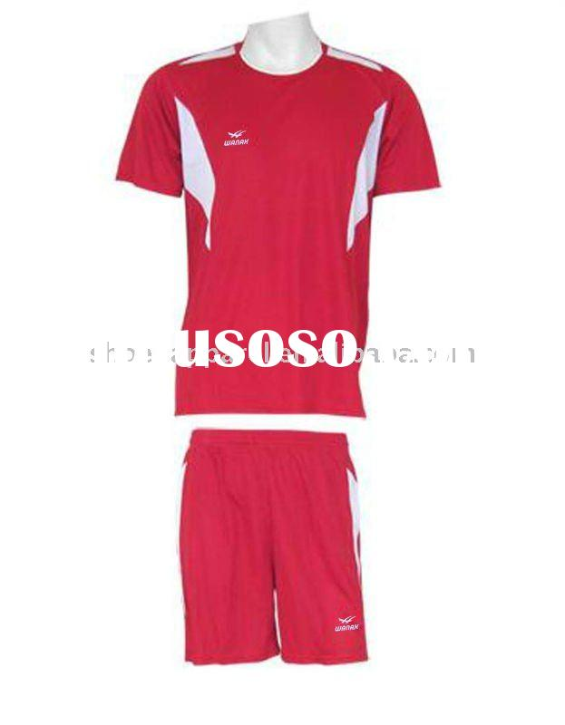 2012 latest design red soccer uniforms