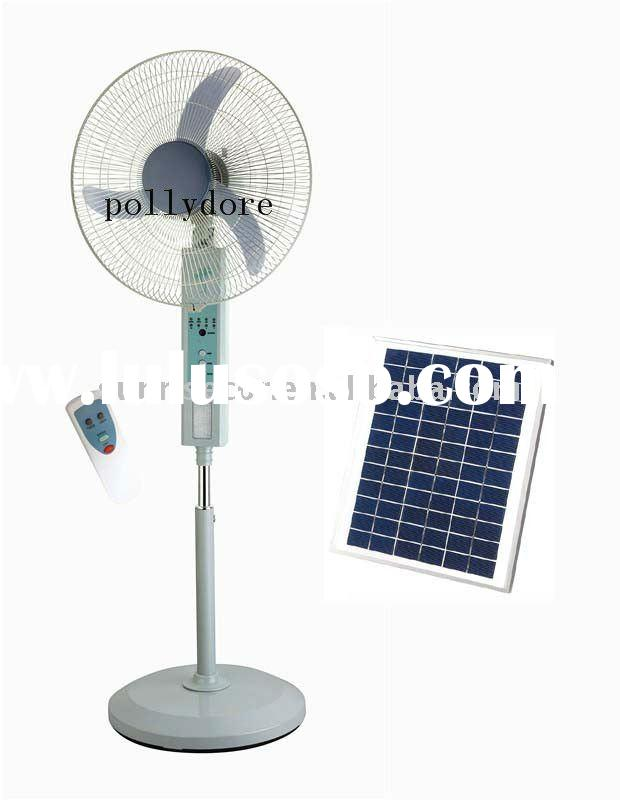 """20"""" remote control ,stand oscillating rechargeable fan with LED light"""