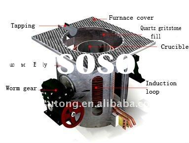 2500Hz medium frequency induction furnace with capacity 50Kg