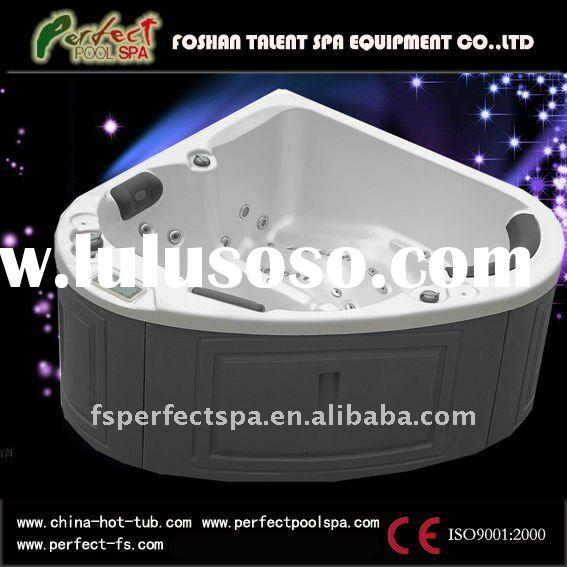 2 person Acrylic triangle hot tub spa outdoor spa