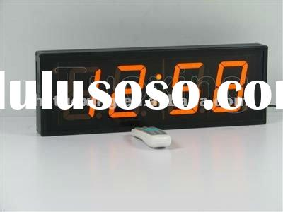 4 inch 4 digit red led wall clock