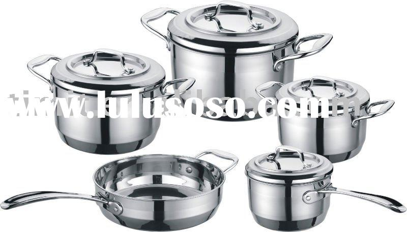 9 pcs cookware set stainless steel (SA1816-T9)