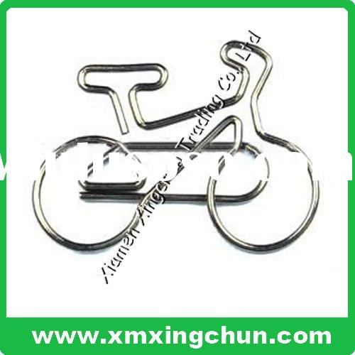 Bicycle paper clip steel color