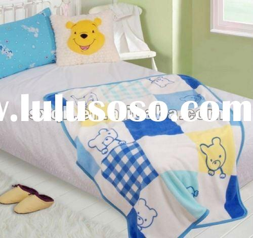 Children's double bed 100%polyester blanket