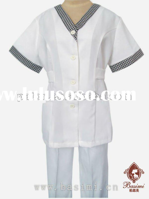 Hotel spa uniforms mandarin collar with several color for for Spa uniform colors