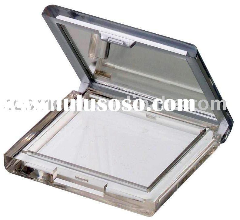 Empty Plastic Square Pressed Powder Compact Packaging