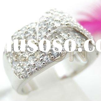 Factory artisan crafted wholesale sterling fashion design White CZ rhodium plating 925 silver Mother