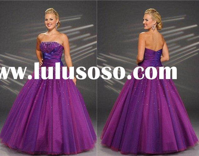 Free shipping PM385 Formal Ladies Organza Beaded Evening Prom Dress