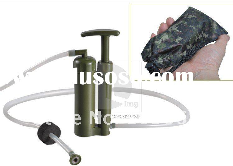 HIGH QUALITY NEW TYPE MINI PORTABLE PLASTIC OUTDOOR Soldier's WATER PURIFIER / WATER FILTER