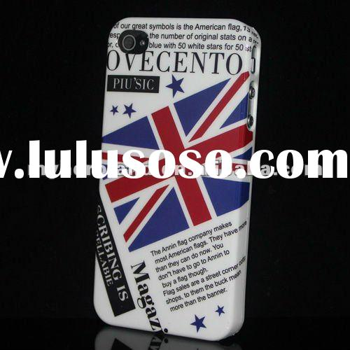 Hard Plastic case For iPhone 4S&4G Flag Pattern Design for 2012 London Olympic