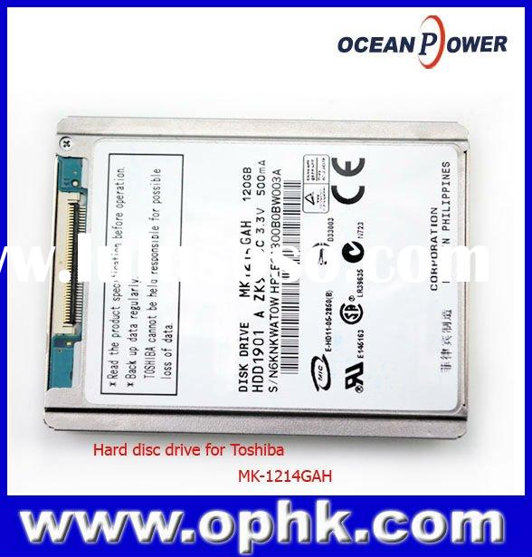Hot sale 120 Gb Hard Disc Drive for Toshiba MK-1214GAH ZIF 8mm