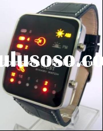LED Digital Watch with Vertical and Horizontal LED Lights LED Watches(G1032)