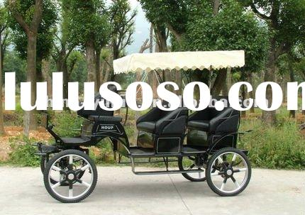 Leisure top grade tourism horse drawn wagon/sightseeing horse and carriage with high quality
