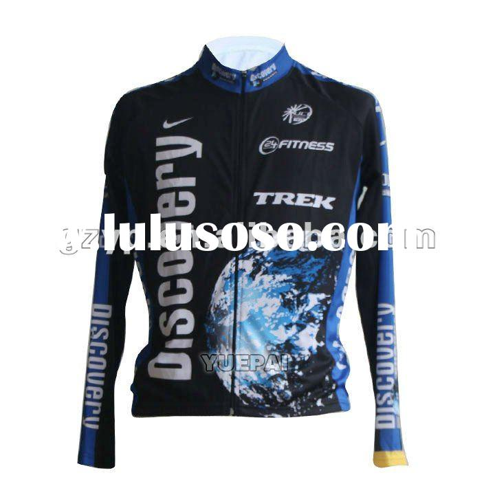 Long Sleeve Fantastic Custom Design Cycling Jersey with Digital Sublimation Printing 2012