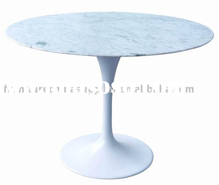 Marble Top Aluminum Base Dining Table