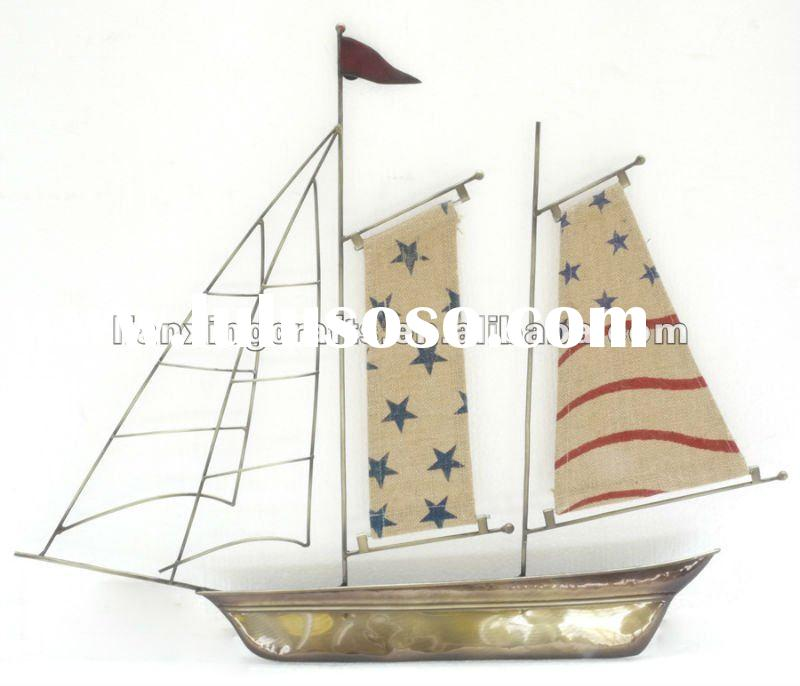Metal Wall Hanging Ship Craft For Home Decoration