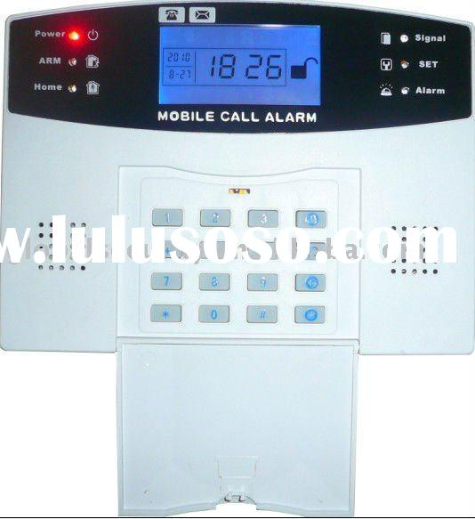 New GSM wireless home alarm system with color LCD screen
