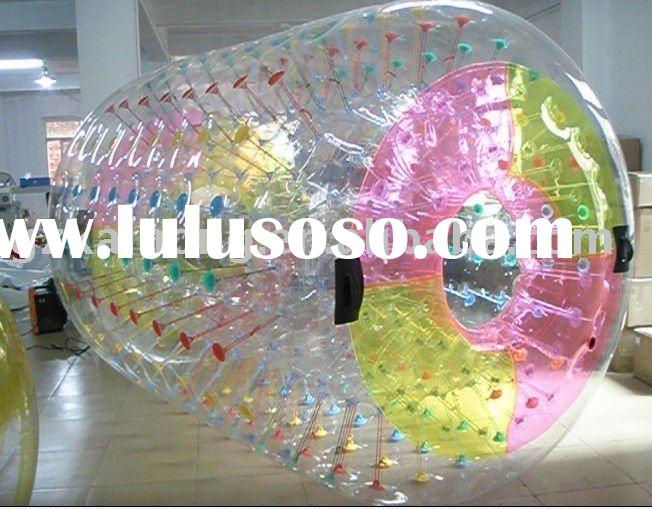 PVC water walking roller ball with colored grips