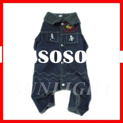 Pet Winter Thick Overall Jeans Dog Clothes