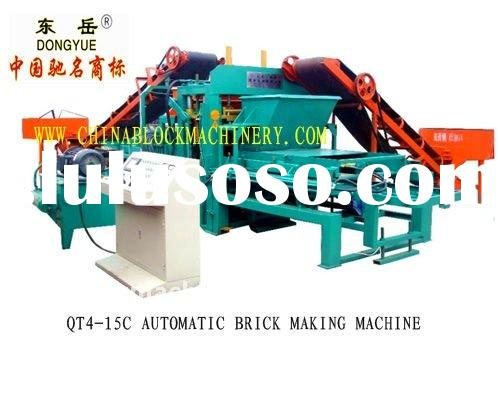 QT4-15C automatic fly ash brick making machine(dongyue brand)