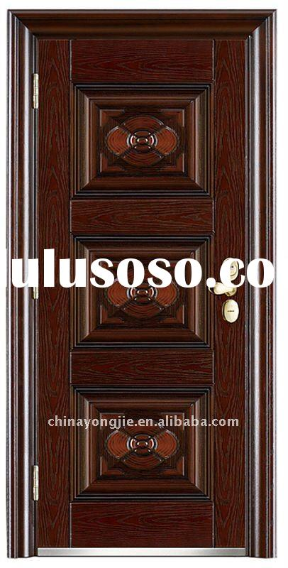 Simple design steel security main door design for sale for Simple main door design