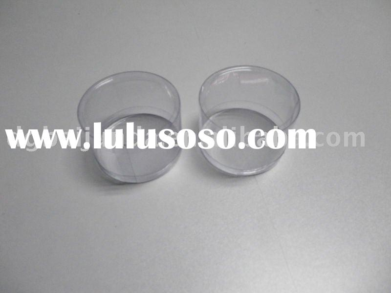 Small PVC clear plastic cylinder