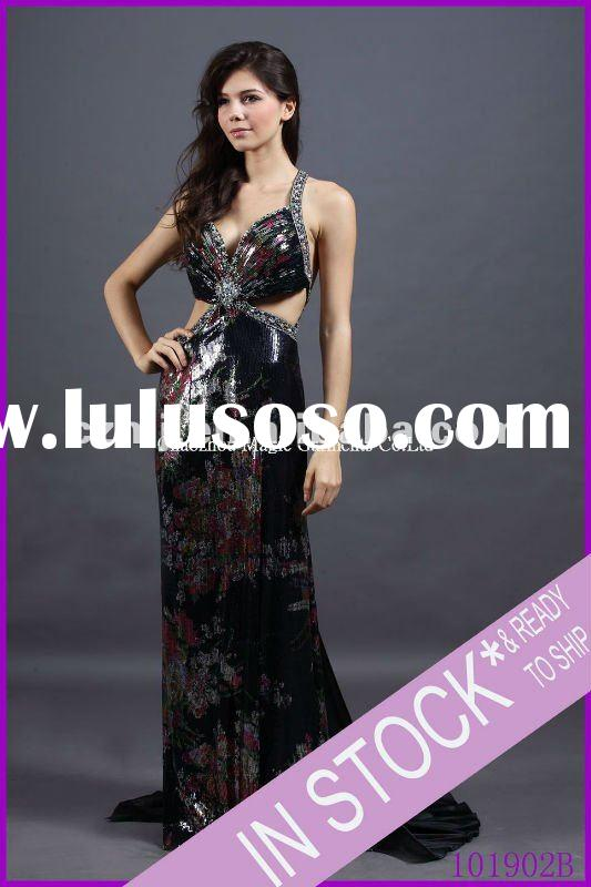 Spring 2012 new arrival beaded strap long prom dress