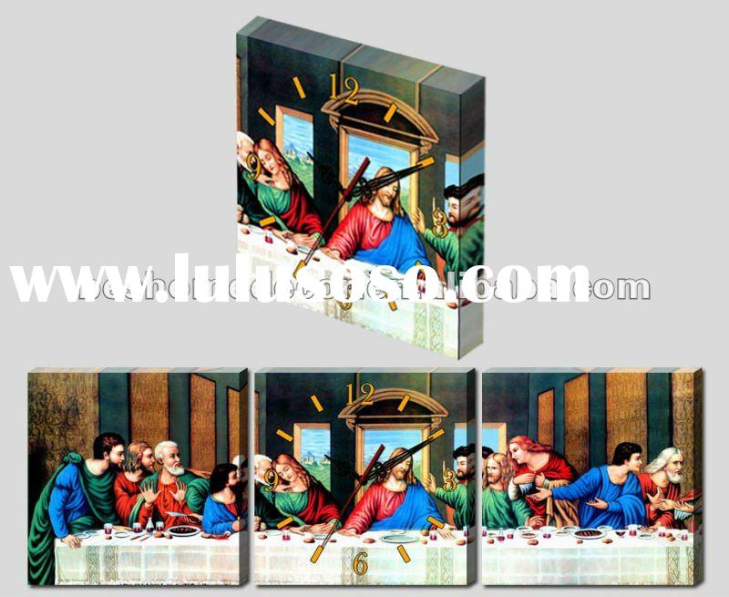 The last supper picture canvas art clock(CE&ROHS)