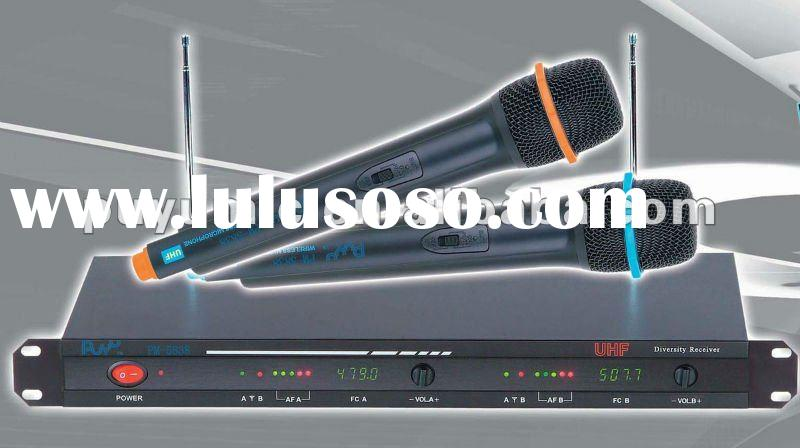 UHF500 Dual Channels Wireless Microphone KTVmicrophone