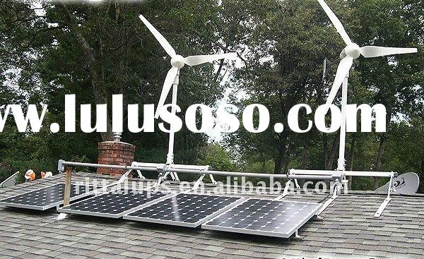 Wind Generator and Solar Panel Hybrid System