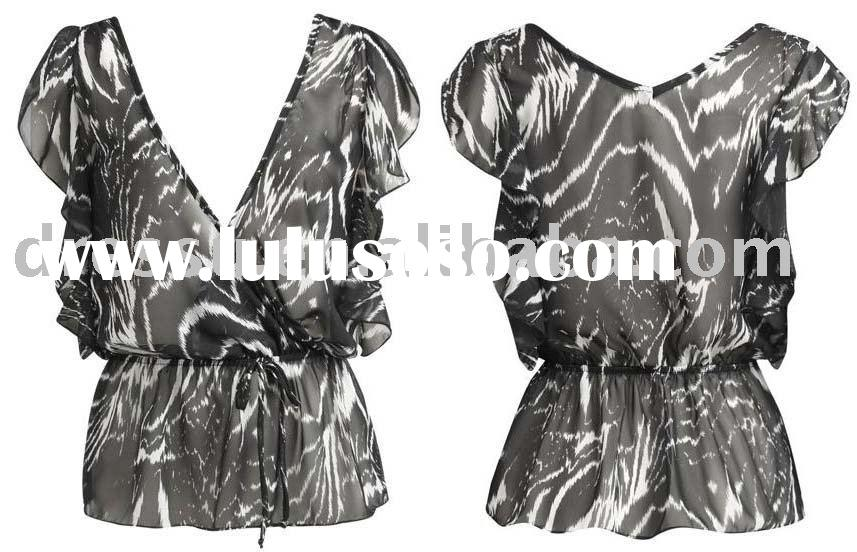 Zebra Print Ladies Top