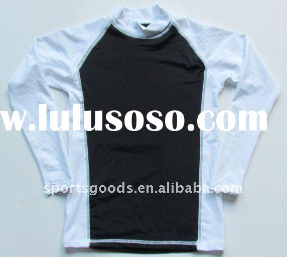 (New arrival) lycra compression top in Black and White