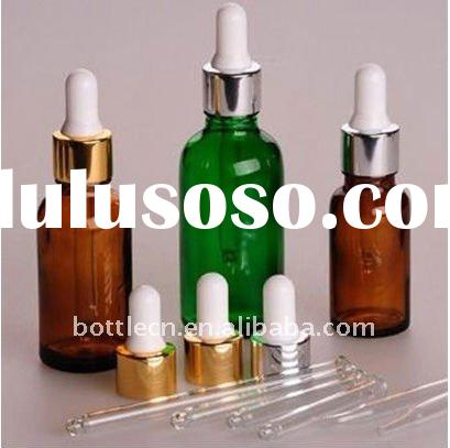amber glass bottle with dropper