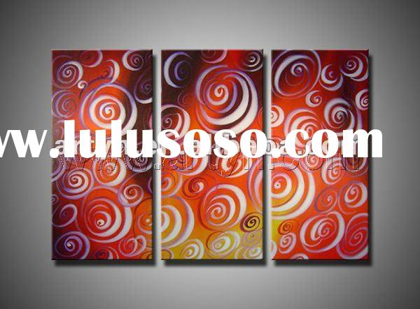 canvas abstract oil painting with frame