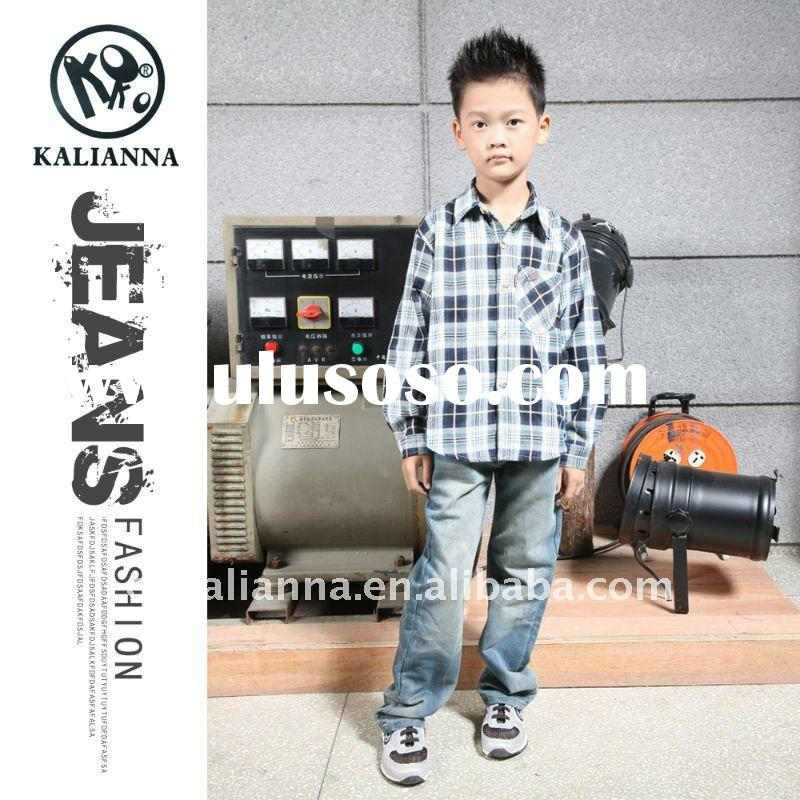 child jeans kids wear with fashion design KY-0084#