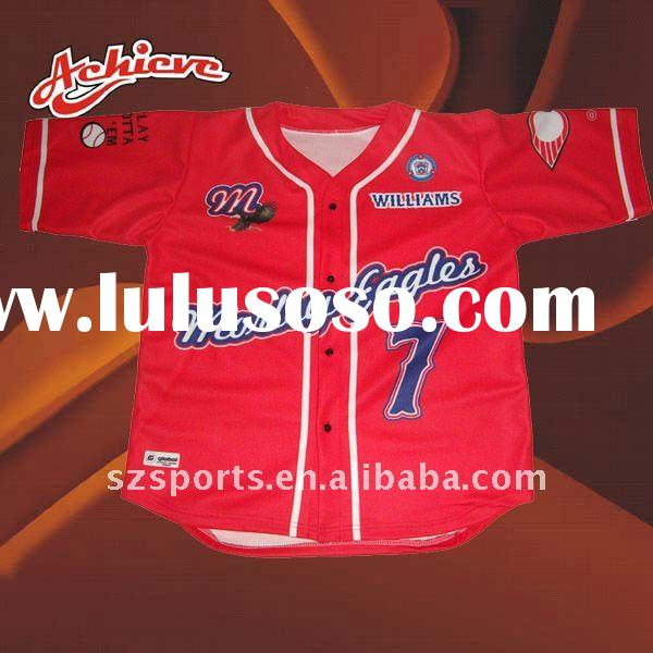 custom sublimated baseball jerseys red