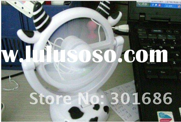 cute cow design USB fan for summer lovely design 5pcs/lot free shipping