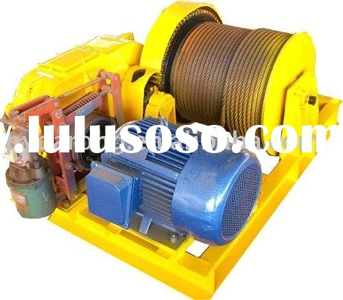 electric wire rope dock winch for pulling and lifting